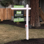 fred real estate, realty sign, hangman post, for sale sign, name rider, flyer box